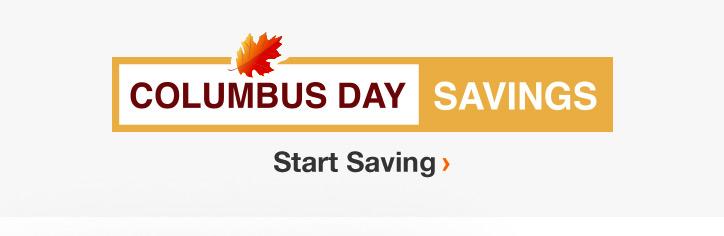 Columbus Day Savings