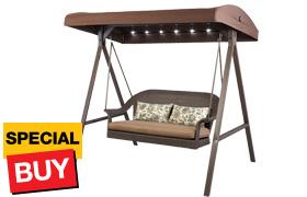 $336.75 Hampton Bay LED Wicker Swing
