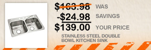 $139 STAINLESS STEEL DOUBLE BOWL KITCHEN SINK | Special Buy of the Day at The Home Depot
