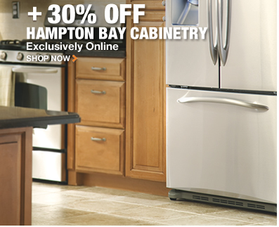 30% OFF HAMPTON BAY CABINETRY