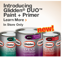 INTRODUCING GLIDDEN DUO PAINT AND PRIMER
