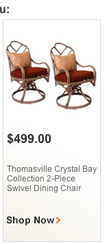 thomasville crystal bay collection 2-piece swilel chair