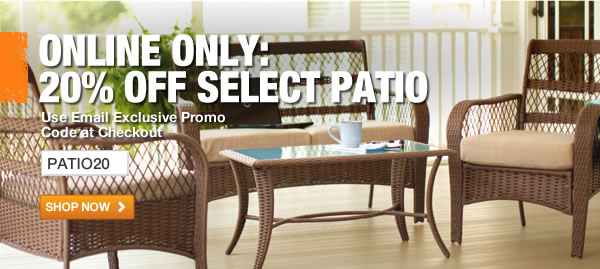 20% OFF SPRING PATIO