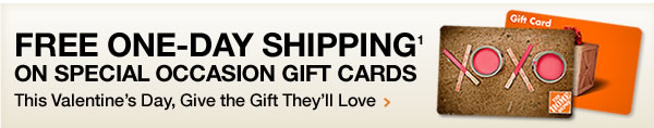 FREE ONE-DAY SHIPPING ON SPECIAL OCCASION GIFT CARDS
