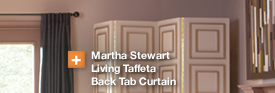 Martha Stewart Living Taffeta Back Tab Curtain