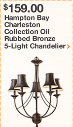 Hampton Bay Charleston Collection Oil Rubbed Bronze 5-Light Chandelier