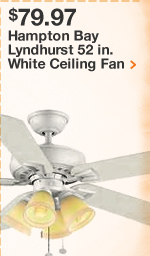 Hampton Bay Lyndhurst 52 in. White Ceiling Fan