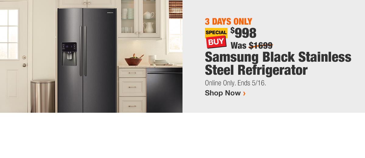 Samsung Black Stainless Steel Refrigerator